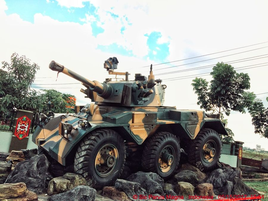 EyeEmNewHere Military Military Vehicles Tank Armored Tank Armored Vehicle Camouflage Camouflage Color Camouflage Pattern Outdoors Day IPhoneography Kalimantan Barat  West Borneo