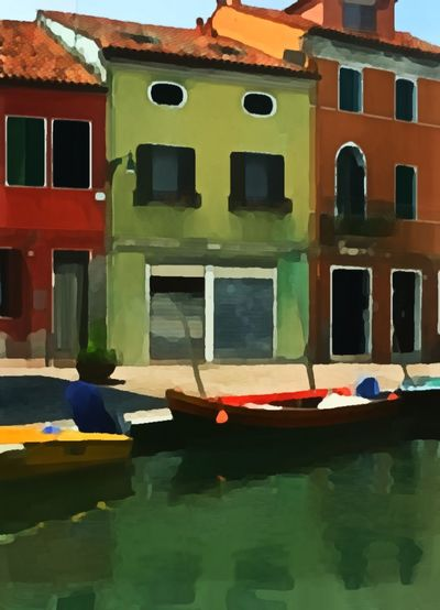 Burano Italy Eye On Travel Digital Artistic Window Built Structure Transportation Outdoors No People Water