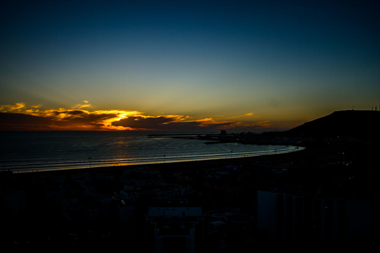 Live from Agadir Morocco Architecture Beauty In Nature Cityscape Cloud - Sky Day Nature No People Outdoors Scenics Sea Sky Sunset Water