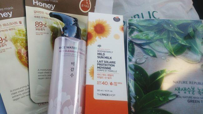 Shopping can Releasetension TheFaceShop Naturerepublic Facialmask Sunblock