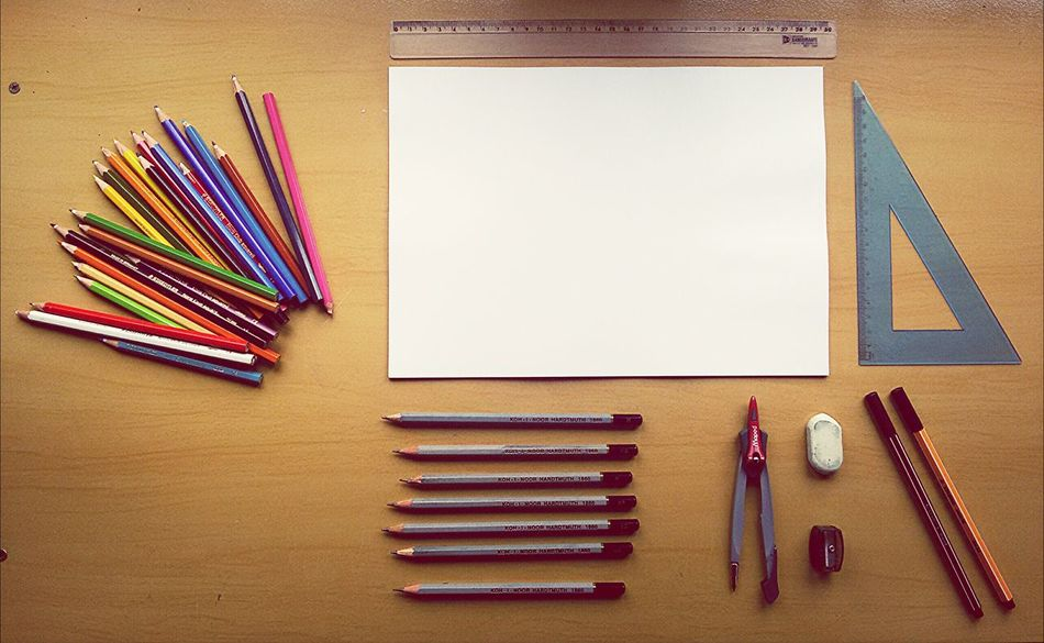 Beautiful stock photos of math, Accuracy, Art And Craft, Colored Pencil, Directly Below Shot