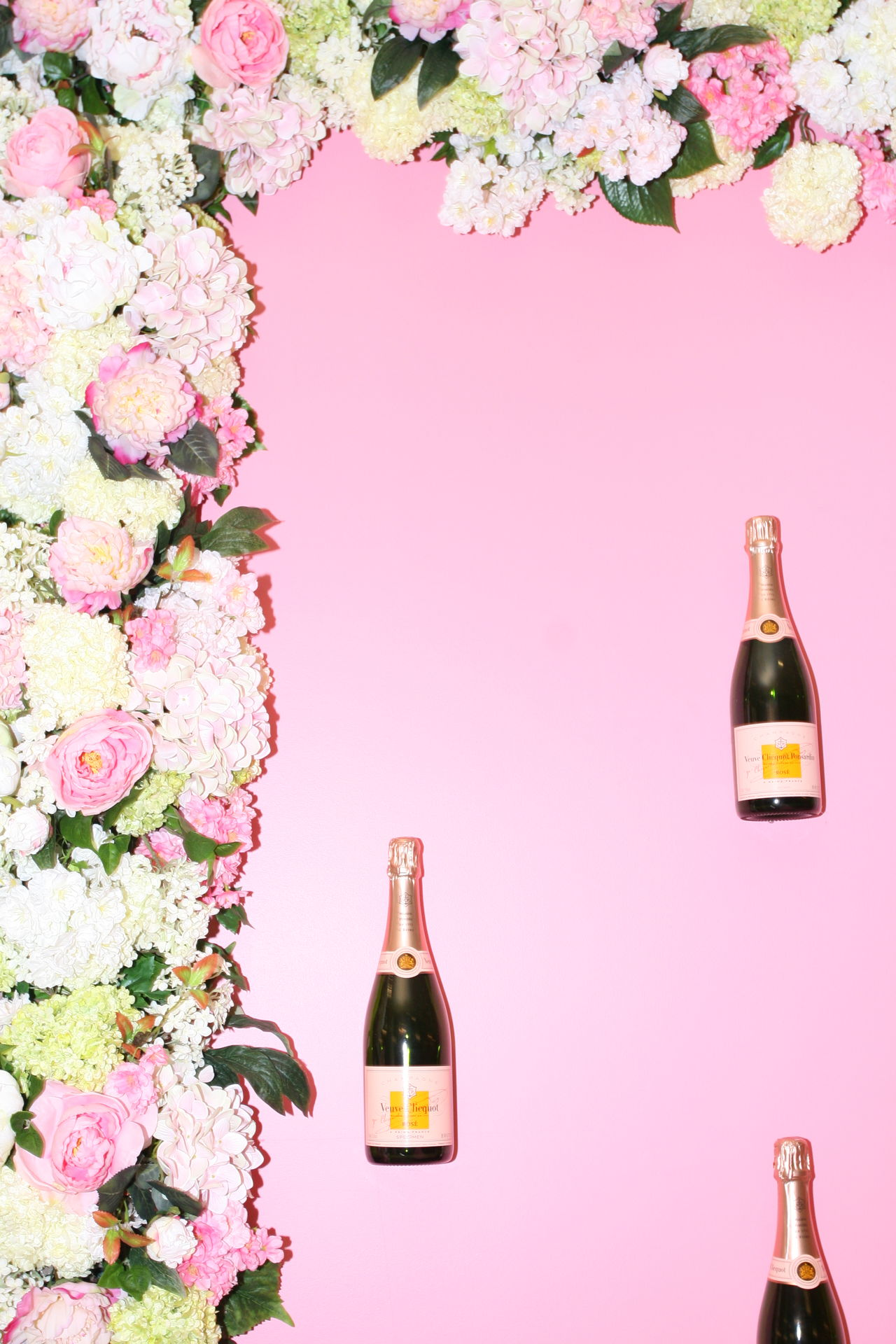 Alcohol Bottle Bouquet Celebration Cork - Stopper Day Drink Drinking Glass Floral Flower Food And Drink Nature No People Pastel Pink Wine Wine Bottle