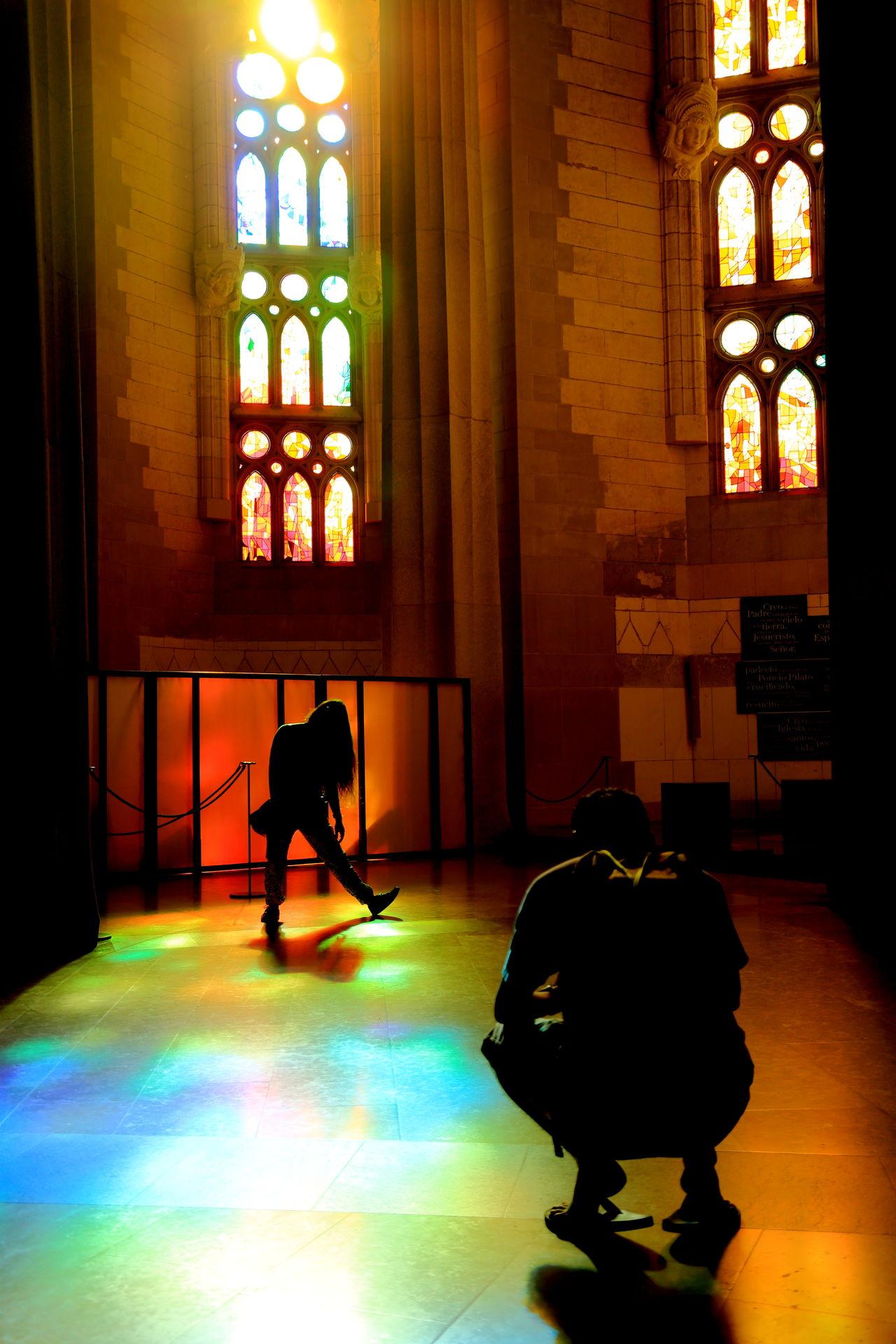 Dark Illuminated Lifestyles Rainbow Colors Sagrada Familia Shadows Shadows & Lights Take Picture