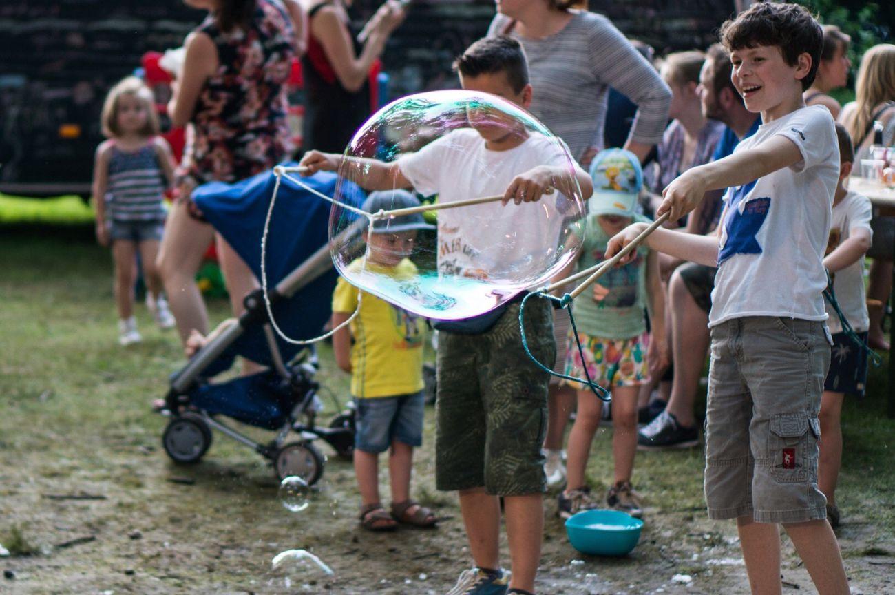 Boy Bubbles Life Fun Summer