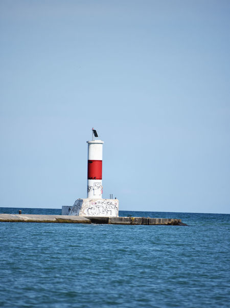 Light house on Lake Michigan Architecture Blue Building Exterior Built Structure Clear Sky Day Direction Guidance Horizon Over Water Lighthouse Nature No People Outdoors Protection Safety Scenics Sea Sky Tranquility Water Waterfront