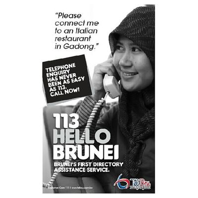 Over the last year, I've heard several positive comments about the 113 Directory enquiry service. With 113 Hello Brunei, it will get even better! Brunei SME Marketing Callcentre InstaBruDroid Andrography Random