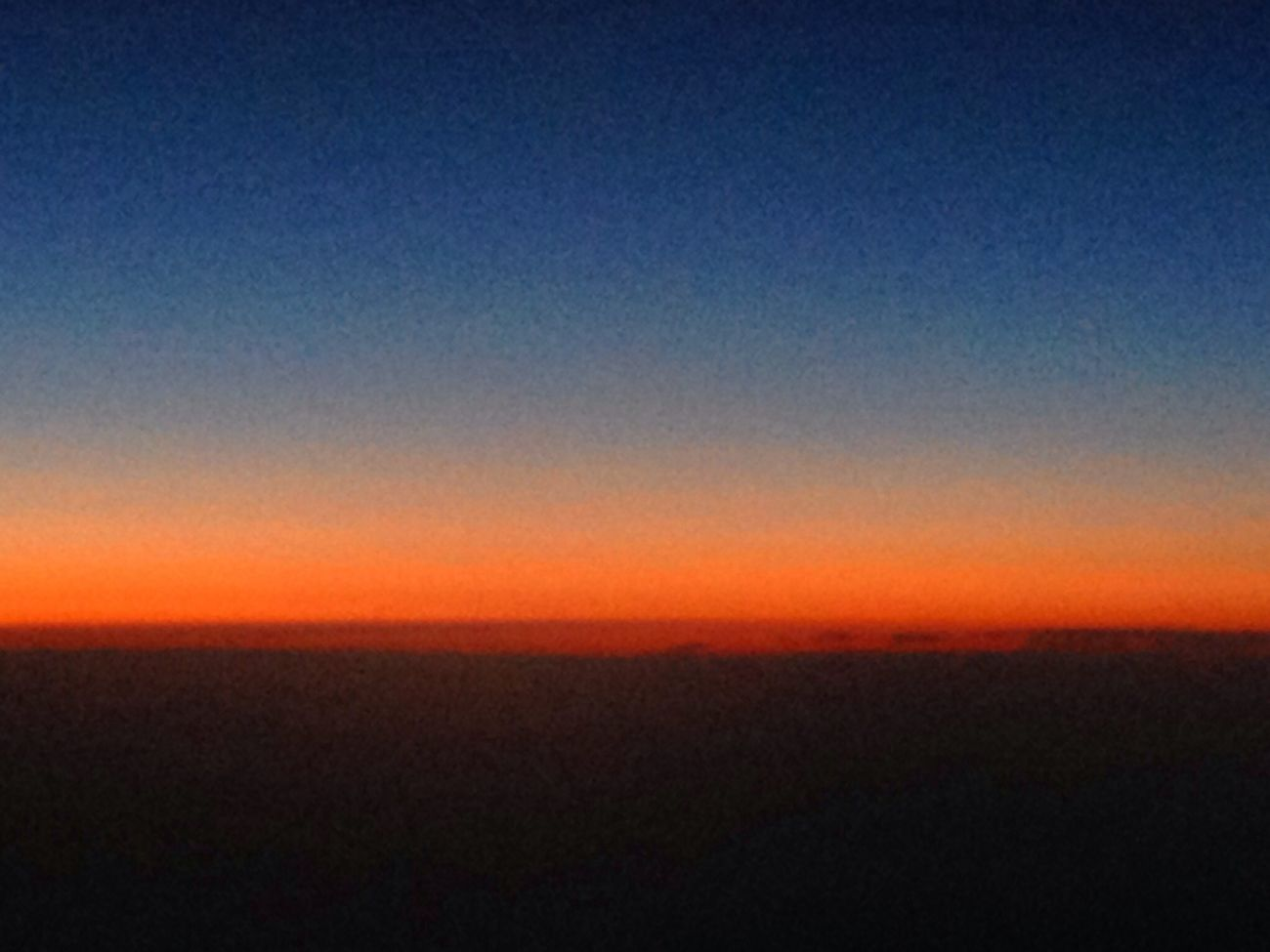 Sunset from 35k feet on Virgin Atlantic flight to Las Vegas