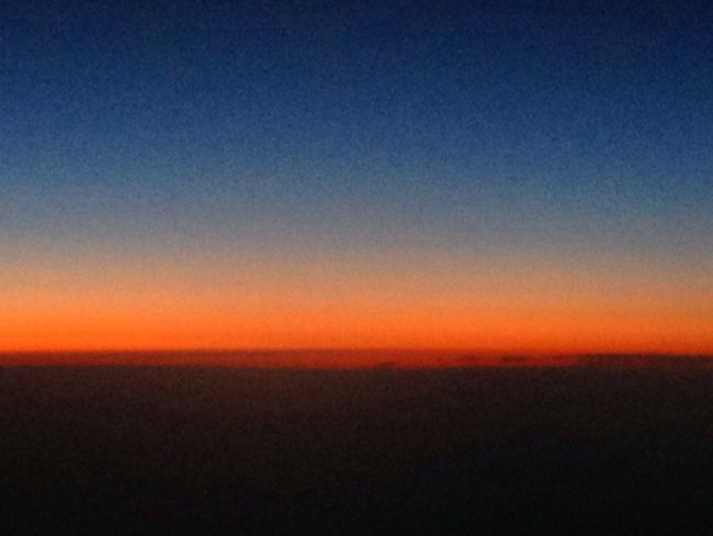Sunset from 35k feet on Virgin Atlantic flight to Las Vegas