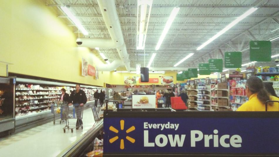 Indoors  Large Group Of People Architecture Day People Walmart Supermarket