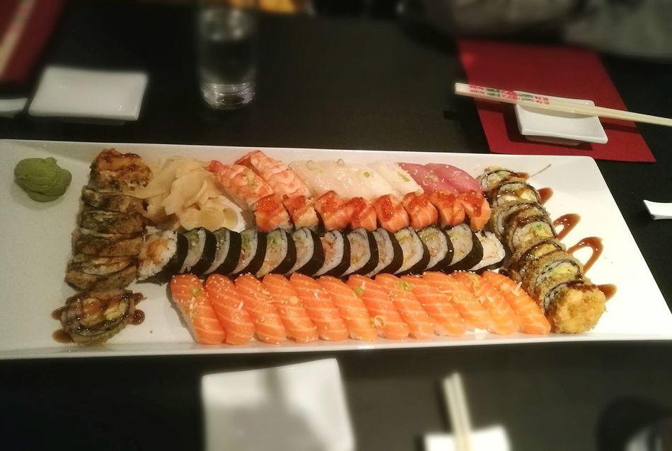 Food And Drink Food Indoors  Freshness No People Day Sushitime Sushi! Sushi Restaurant Sarpsborg Norway Sushi Lover Sushiporn