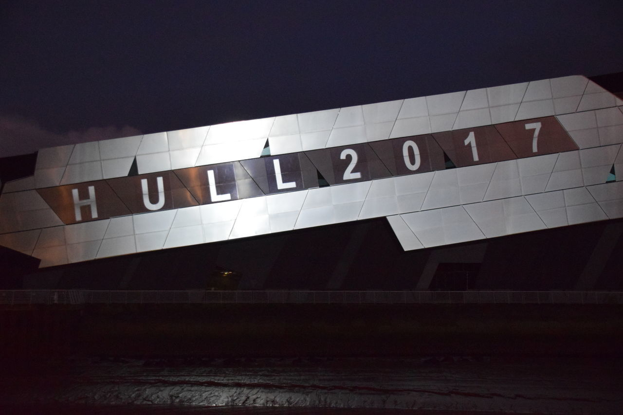 """""""In With A Bang"""", Hull - UK City of Culture 1st January 2017 Architecture Day Hull Hull 2017 Hull City Of Culture 2017 Hull2017 No People Outdoors Text The Deep"""