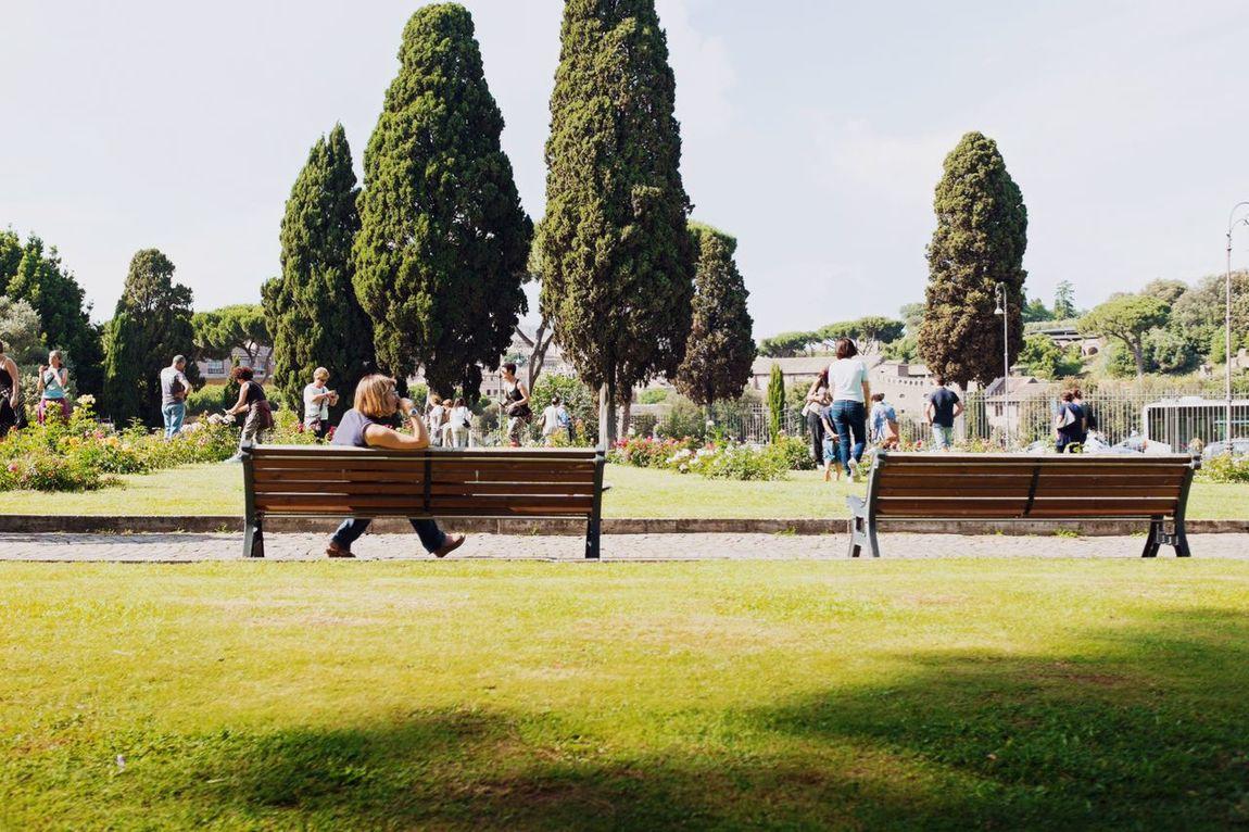 Waiting for someone // Priime Priimephoto X100S FUJIFILM X100S Fuji X100s Rose Garden Garden Park Strangers Benches