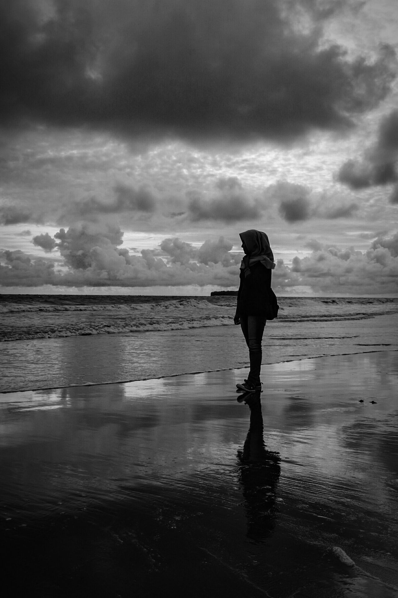 In the mist of missing you... Beach Sunset Beauty In Nature Sky Landscape Silhouette Bw Photography Wonderfulindonesia