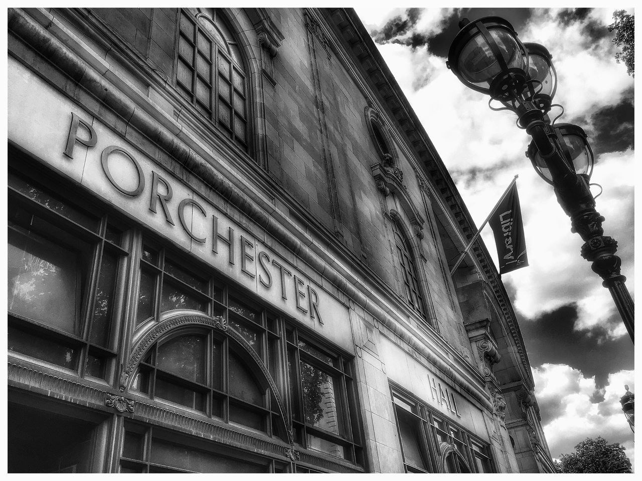 London Porchester Hall Battle Of The Cities Architecture Built Structure Building Exterior Auto Post Production Filter Low Angle View City Sky Day Outdoors Cloud - Sky City Life Famous Place Architectural Feature Architectural Column History High Section No People Façade Full Frame London Lifestyle