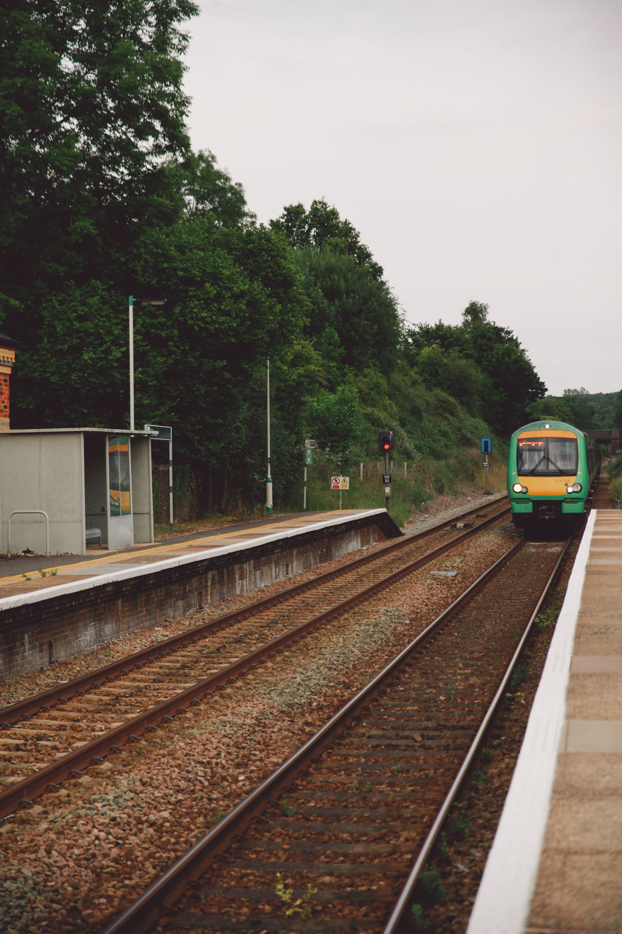 Beautiful stock photos of train, Clear Sky, Edenbridge, Empty, Entering
