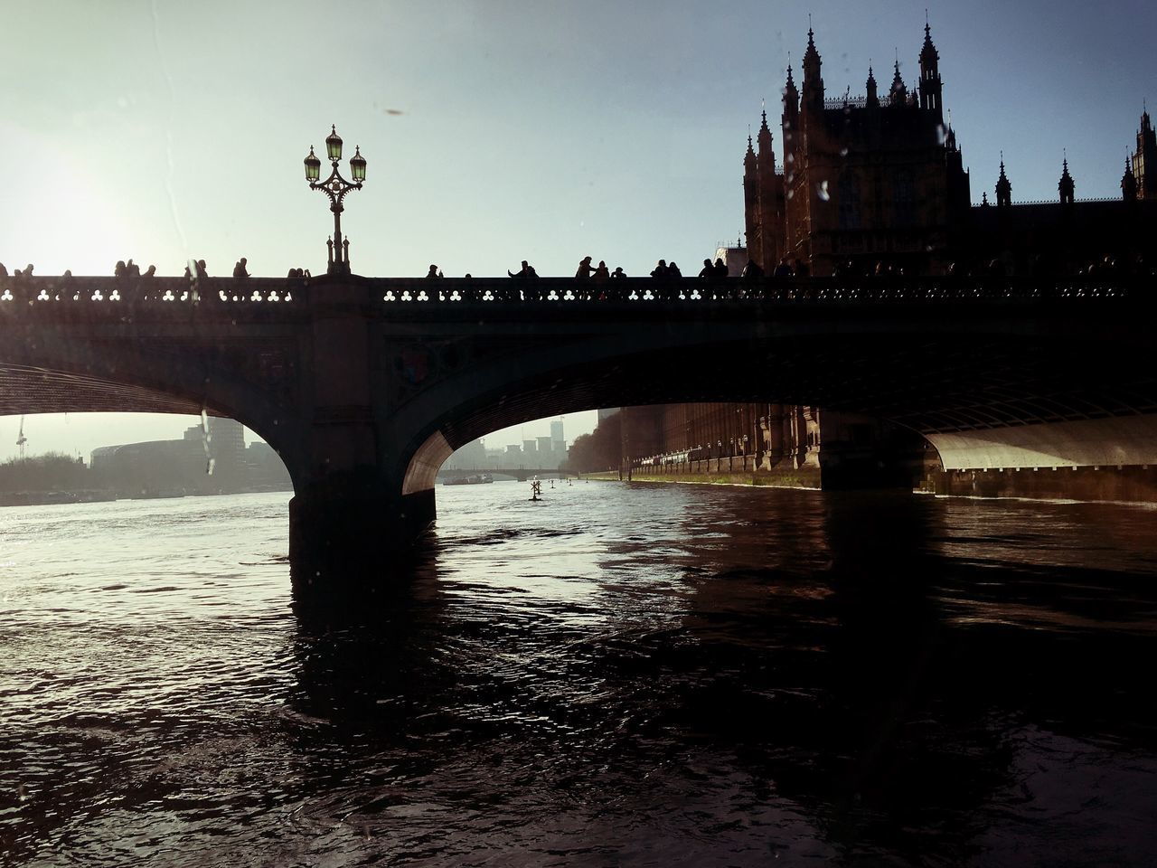 Architecture Built Structure Sky Water Building Exterior River Waterfront Outdoors Day City No People Bridge - Man Made Structure London My Year My View Weather United Kingdom Tranquil Scene Ship Westminster Big Ben Love Quiet Moments Quiet IPhoneography IPhone