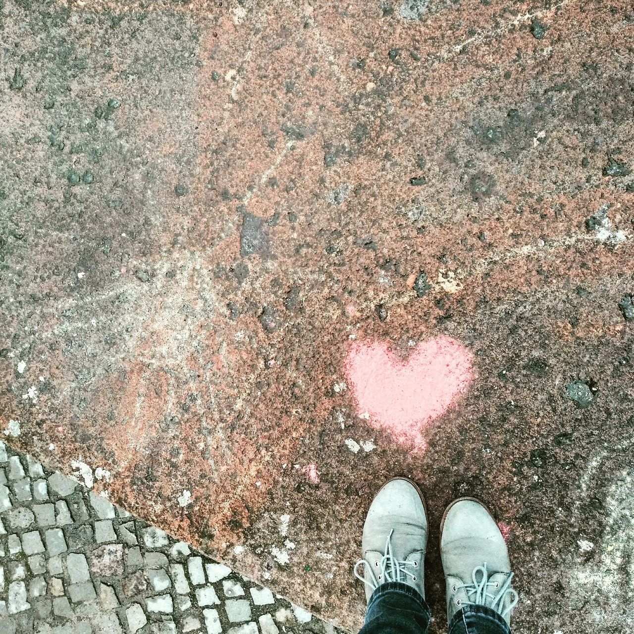 Shoe Standing Art Berlin Berliner Ansichten Pink Street Photography Streetart Street Streetphotography From Where I Stand I Have This Thing With Floors I Have This Thing With Hearts Heart Love Love Is In The Air Love Is On The Floor I See Hearts Herz Auf Stein In Love Looking Down Prenzlauerberg Berlin Prenzlauer Berg Graffiti Signs The Street Photographer - 2017 EyeEm Awards