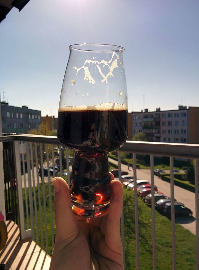 Craft Beer Stout Relaxing Time Beer Time Beerporn Craftbeer My Hobby Outdoors Polishcraftbeer Good Taste View View From The Balcony Beerglass