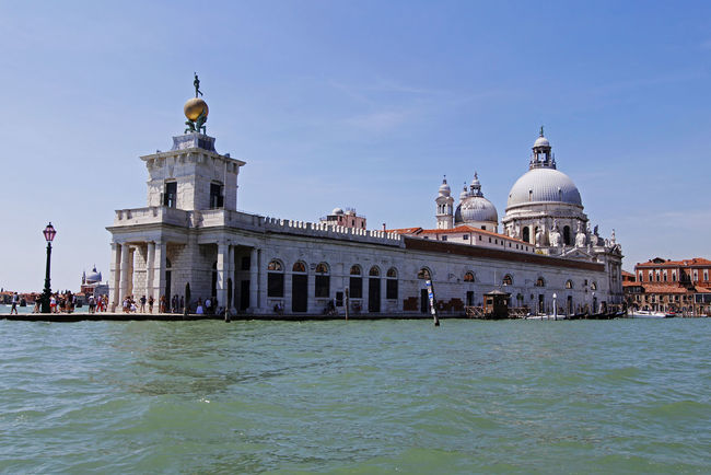 Blue Skies Canal Grand Canal Italy Picturesque Romantic City San Simeone Piccolo Tourist Destination Venice Water Waterway
