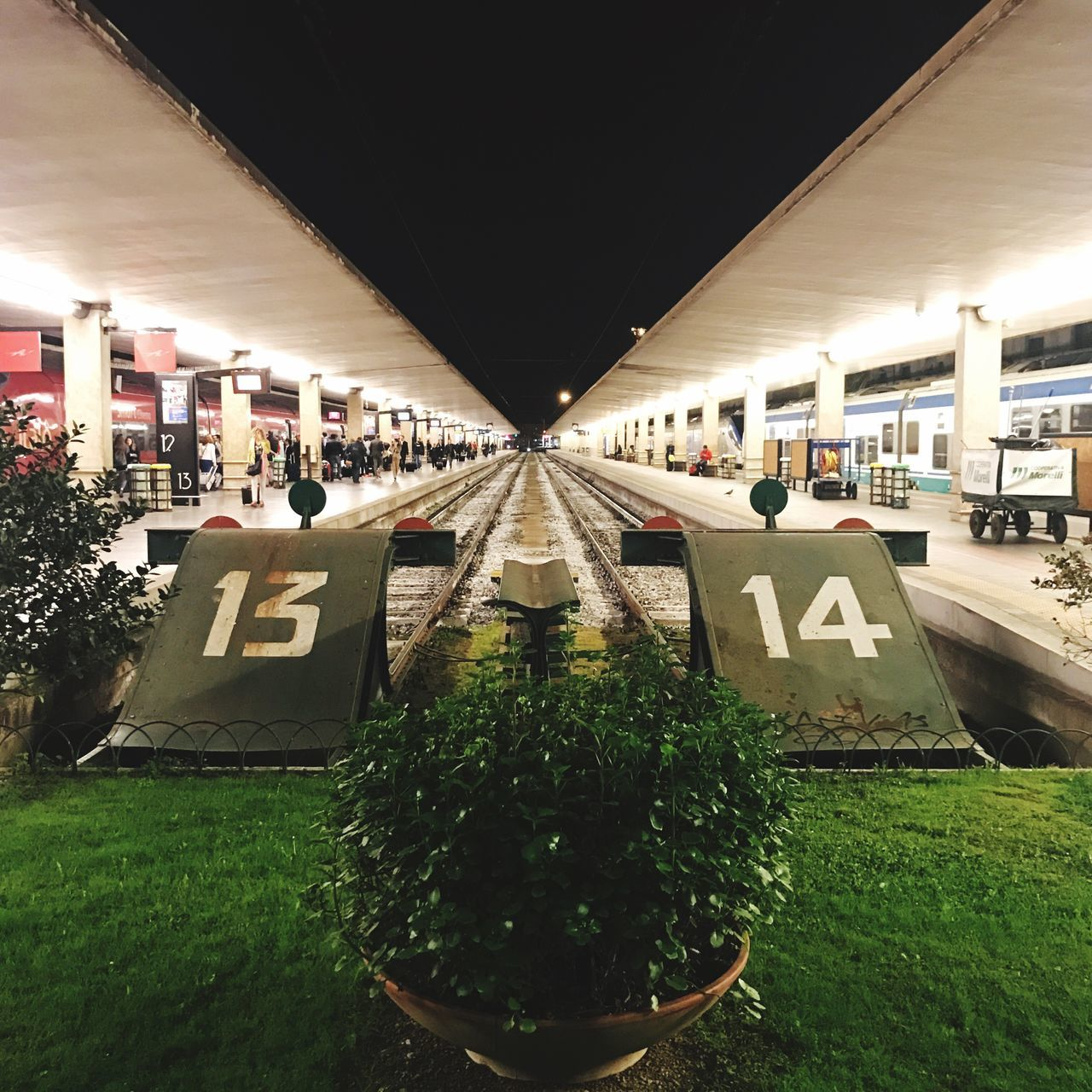 Tracks 13 14 Railway Track Illuminated Built Structure Architecture No People Night Outdoors Train Station Central Prospettive