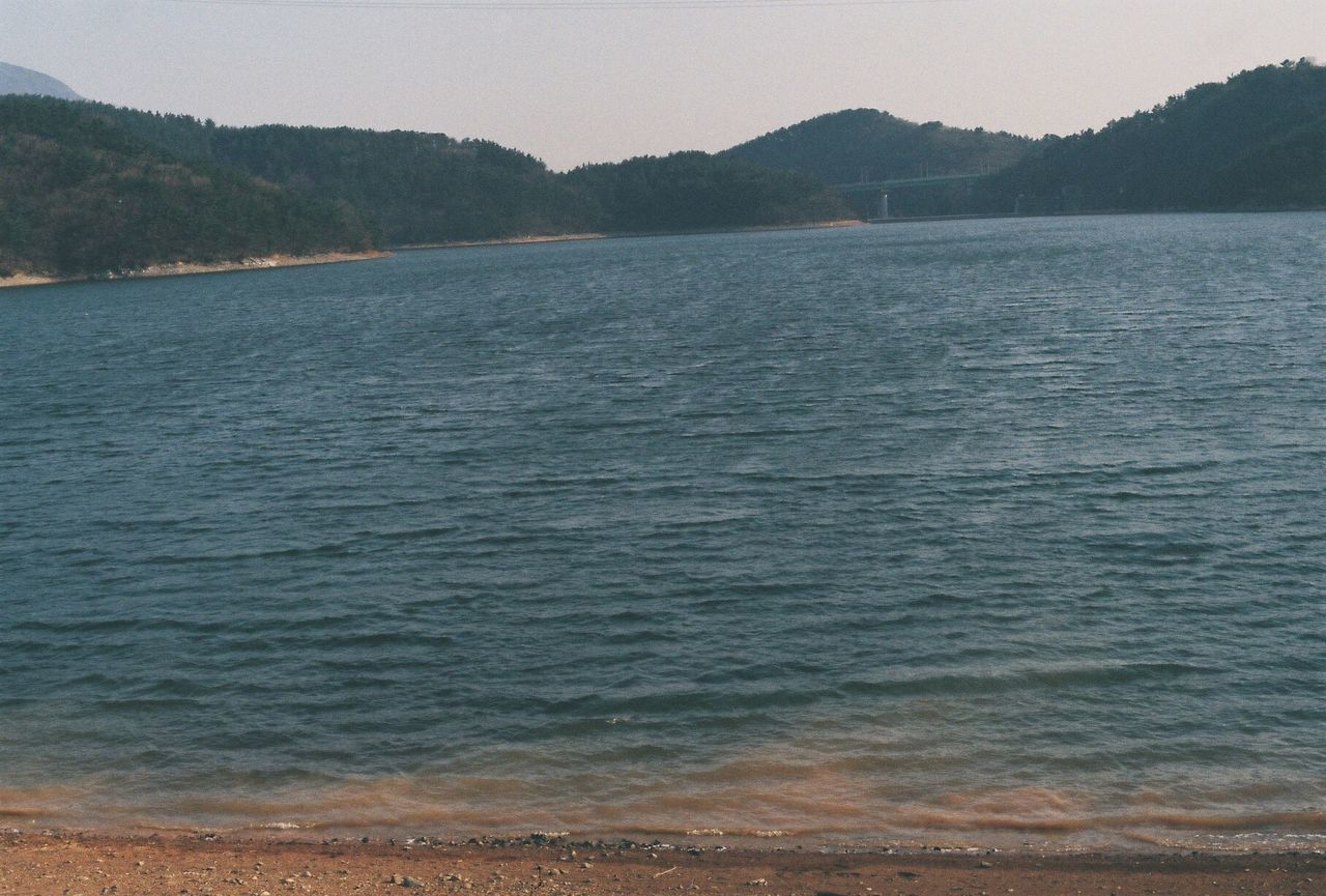 Blue Wave Film Film Photography Snap Relax Busan Lake Fuji Minolta Darkblue Yellowsand