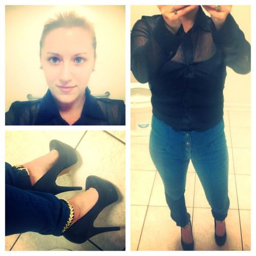 Picstitch  Wednesday's outfit ? Mandee Verawang Fukcmeheels pumps
