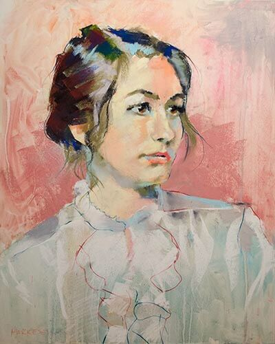 vlk portrait in pastels Art Drawing Painting Portrait www.johnmarkese.com