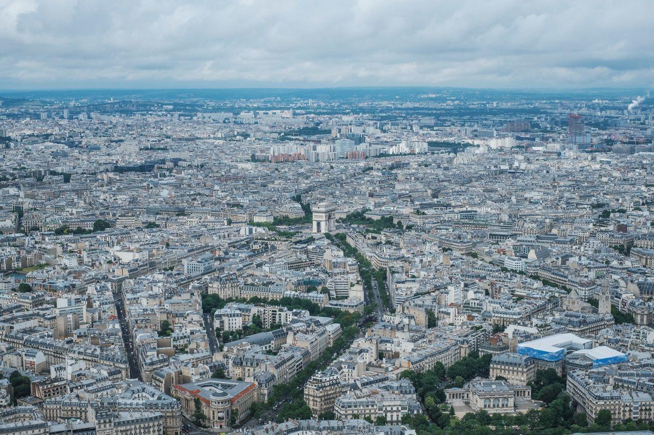 Aerial View Architecture Champ Élysées Cityscape Cityview Europe High Angle View Paris Paris, France  Travel