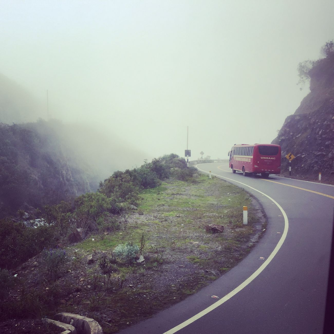 Rumbo a quince mil Unsaac Pista Neblina Bus First Eyeem Photo