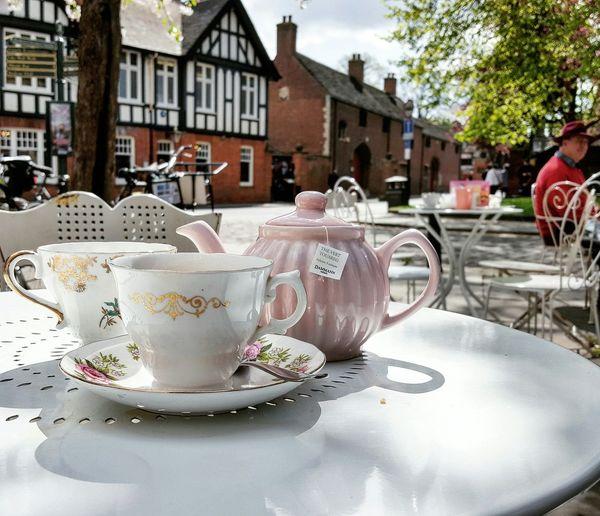 Outdoors Afternoon Tea Vintage Pink Teapot