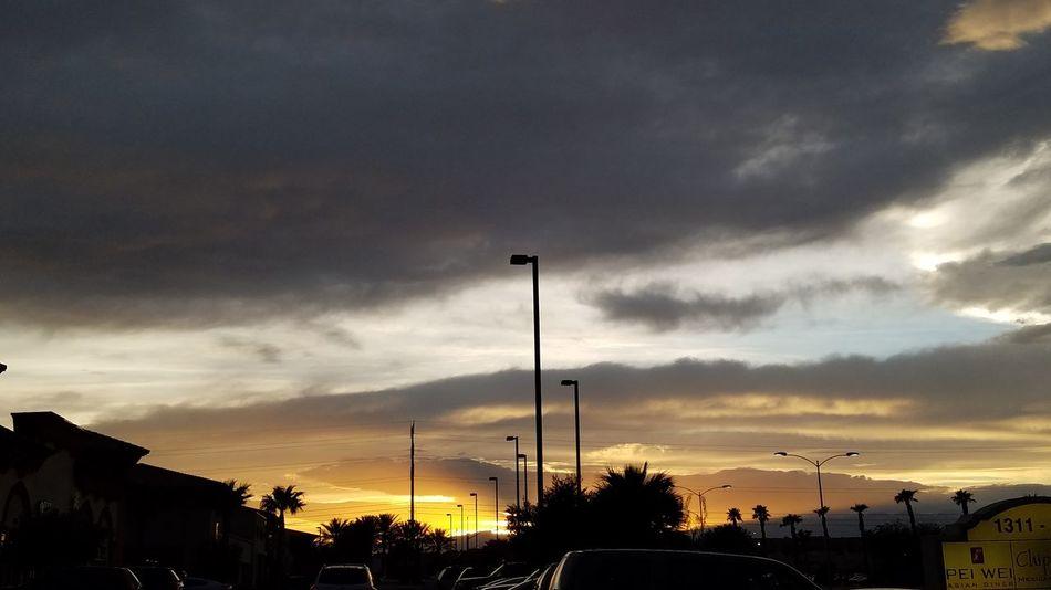 Vegas Sunset Nature Sky