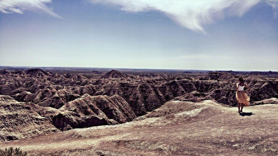 Capture The Moment First Eyeem Photo Badlands Desert Sky Wind Nature Alone Fleeting Beauty Endless On The Edge Edge Of The World Enjoying The View South Dakota Badlands The Great Outdoors Reflection Eyem Best Shots EyeEmbestshots