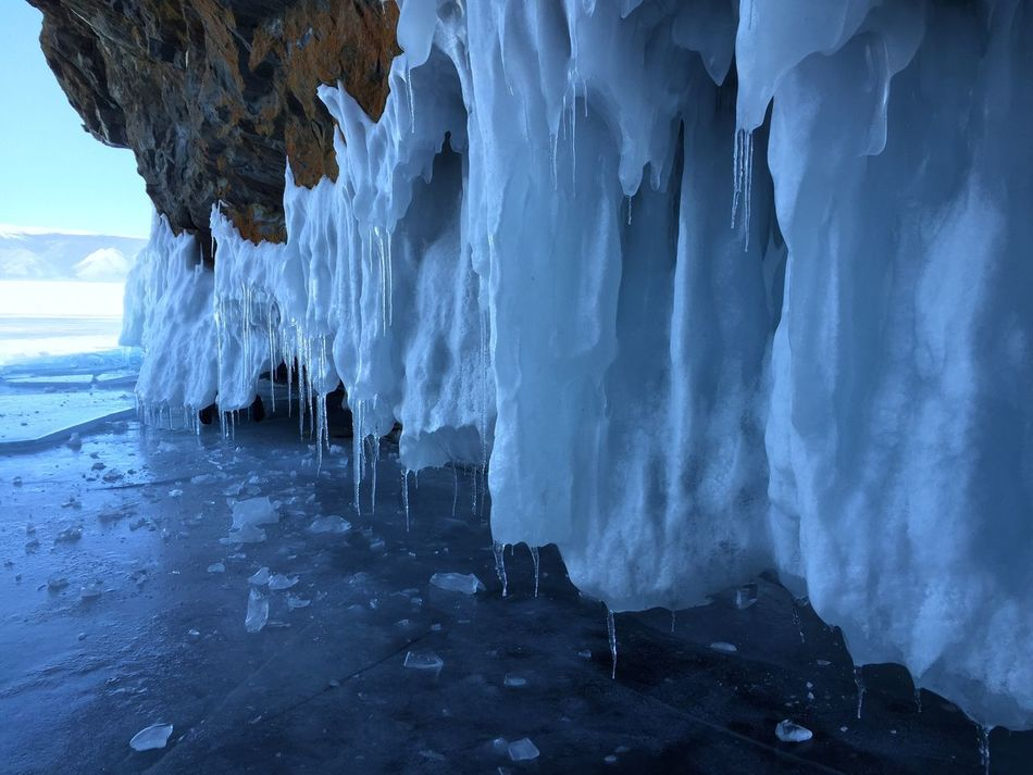 Ice Blue Ice No Filter Nature Cave Beauty In Nature Frozen Stalactite  Day Cold Temperature Outdoors Icicles Nature Blue Water No People Baikal Power In Nature Tranquil Scene Beauty In Nature Winter Glacial