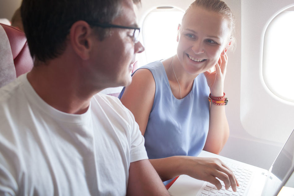 Beautiful stock photos of flugzeug, two people, togetherness, women, adults only