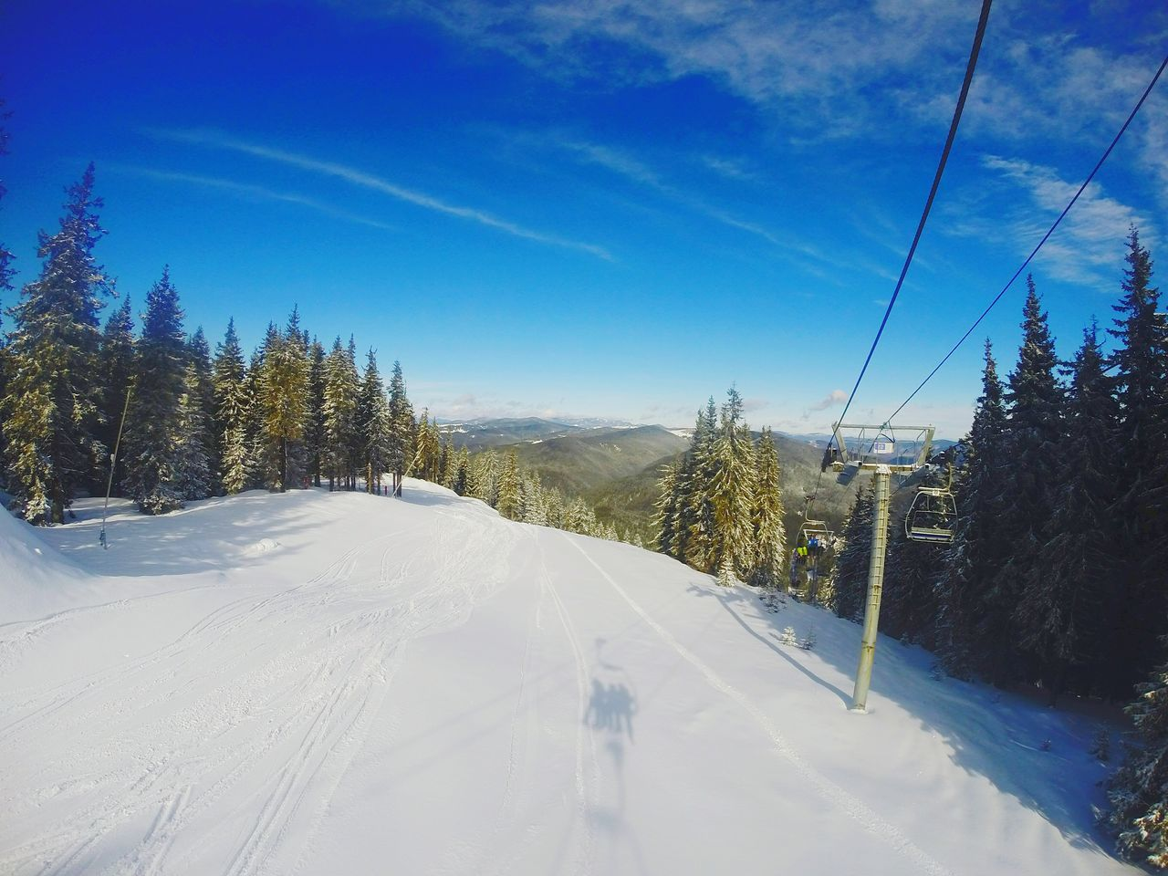 Landscape From My Point Of View Skilift Snowy Trees Snow Trees Ski Slope Slopes Ski Winter Skiing Bulgaria Its Cold Outside Gettyimages Cold Life Through A Lens Photography Horizon Mountain View Mountains Snowy Skyporn Clouds And Sky Taking Photos Landscapes With WhiteWall