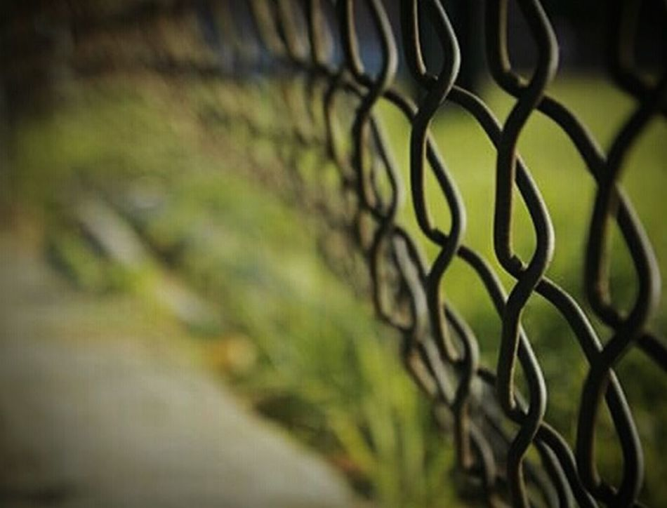 """Jailbreak at the playground"" (2014) Abstractions Just For Fun Odd Odd But Beautiful Oddities Chainlink Fence Abstract Art Abstract Photography Abstract Rusty Metal Held Captive Revolt Imminent Revolt Incarcerated Restraint Oppression Embraceurbanlife"