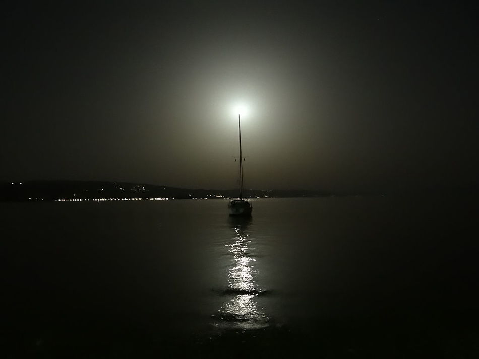 Beach Boat Full Moon Night Photography Reflection Relaxing Time Sea