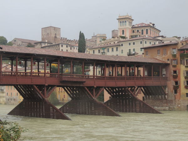 Architecture Bridge Bridge - Man Made Structure Building Exterior Built Structure City Connection Day Engineering Nature Outdoors Ponte Degli Alpini Residential District River Scenics Sea Shore Sky Tranquil Scene Tranquility Water Waterfront