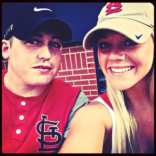 Boo & I at cardinals game! Cardinals Baseball St. Louis