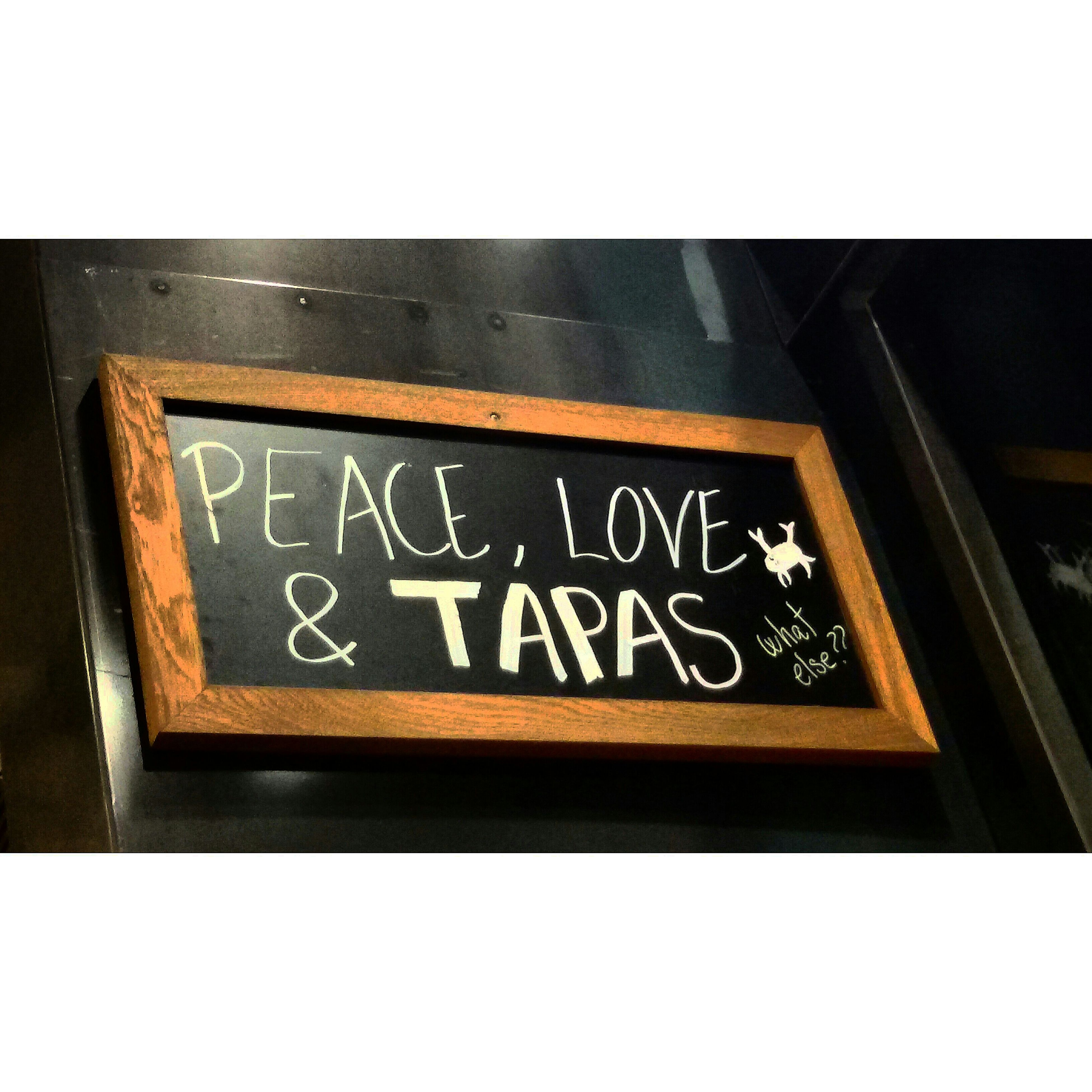 Peace Love Tapas What Else? Sangria Eating Dinner Night Foodporn Words