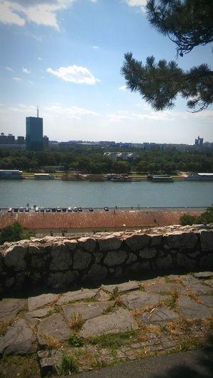 Belgrade,Serbia Belgrade River View Serbia Savariver Sunny Day