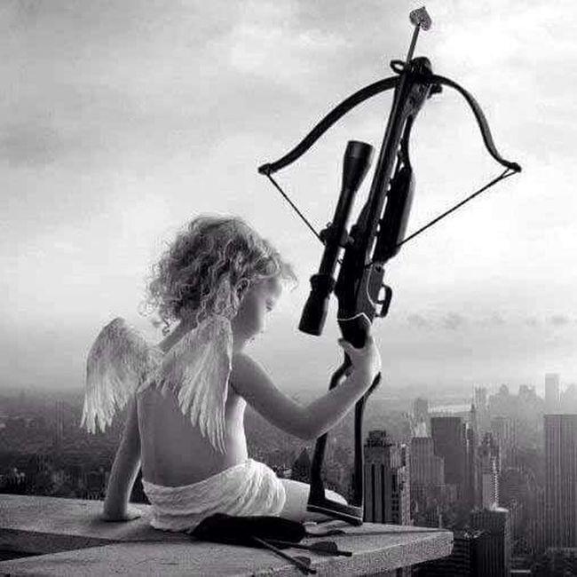 Angel Stvalentinesday Black & White