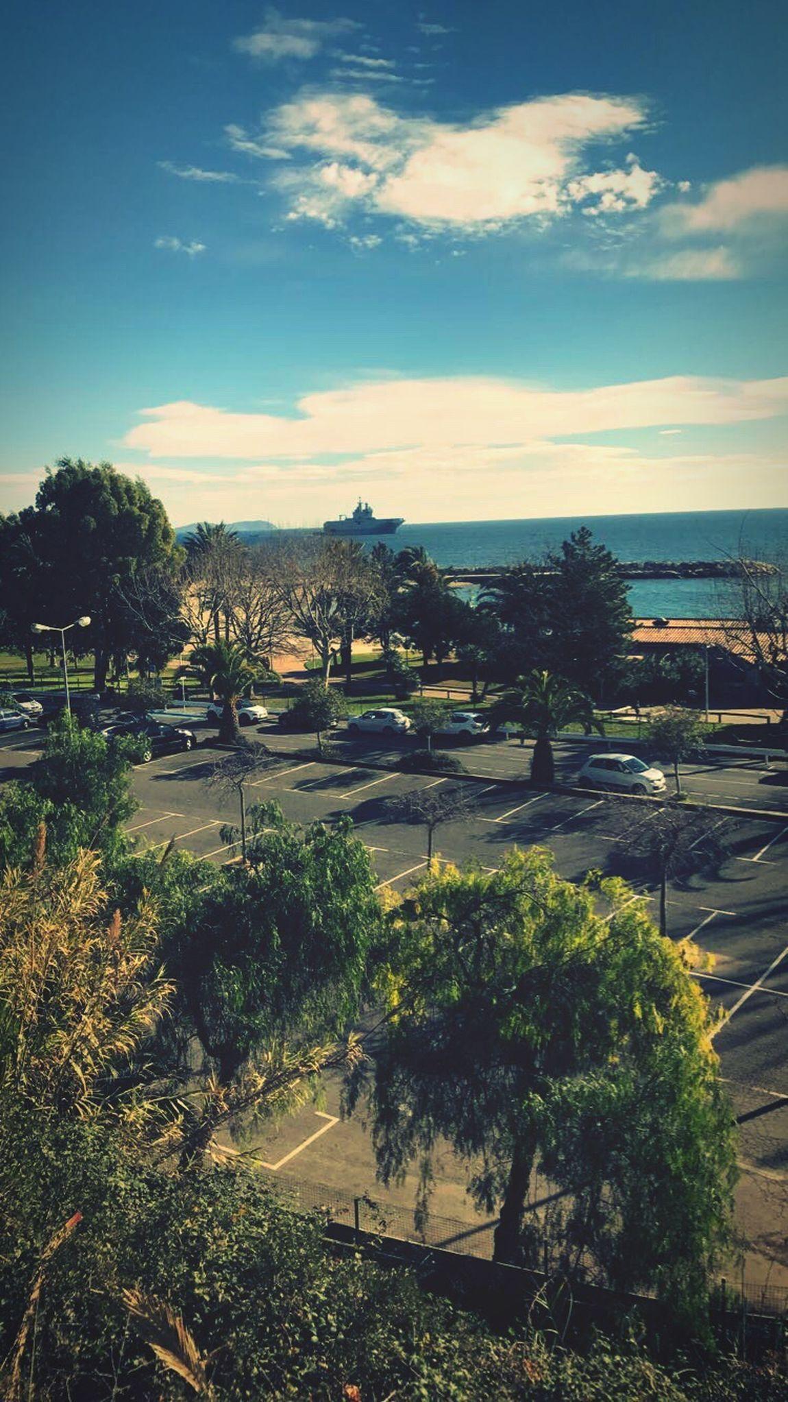 Tree Sky Beauty In Nature Ship Navy Sea And Sky Seascape Home Sweet Home Home Sun Sunshine