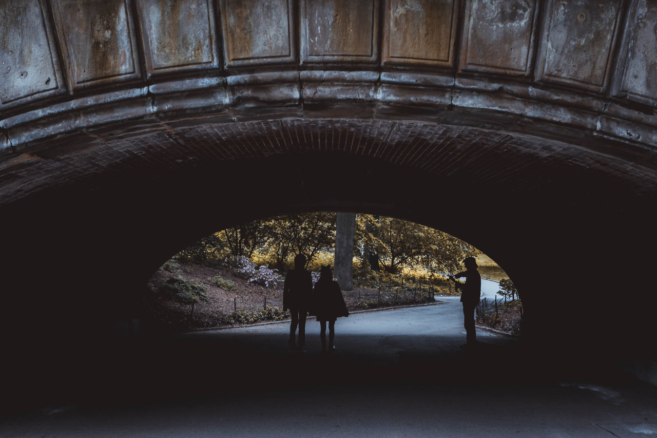 Arch Architecture Below Built Structure Day Full Length Indoors  Lifestyles Live For The Story Men One Person People Real People Silhouette Tunnel Under