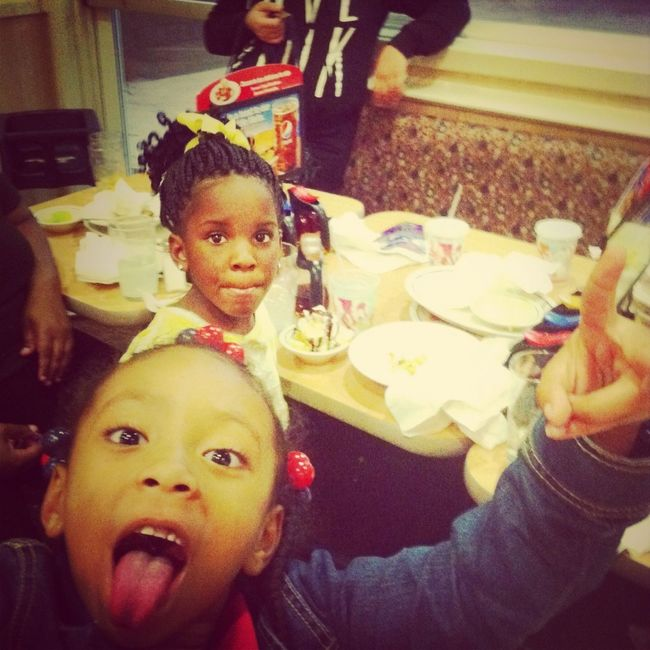 At Ihop For My Lil Cousin Birthday