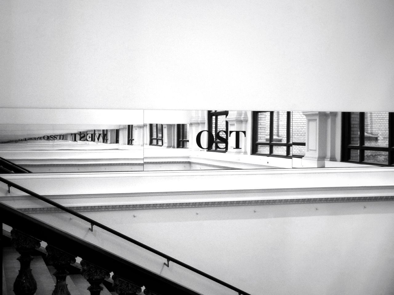 Black & White Blackandwhite Black And White Mirror Reflection Urban Geometry Urban Reflections Perspective From My Point Of View Martin Gropius Bau Geometric Shapes Light And Shadow Architectural Detail Learn & Shoot: Simplicity Selective Focus