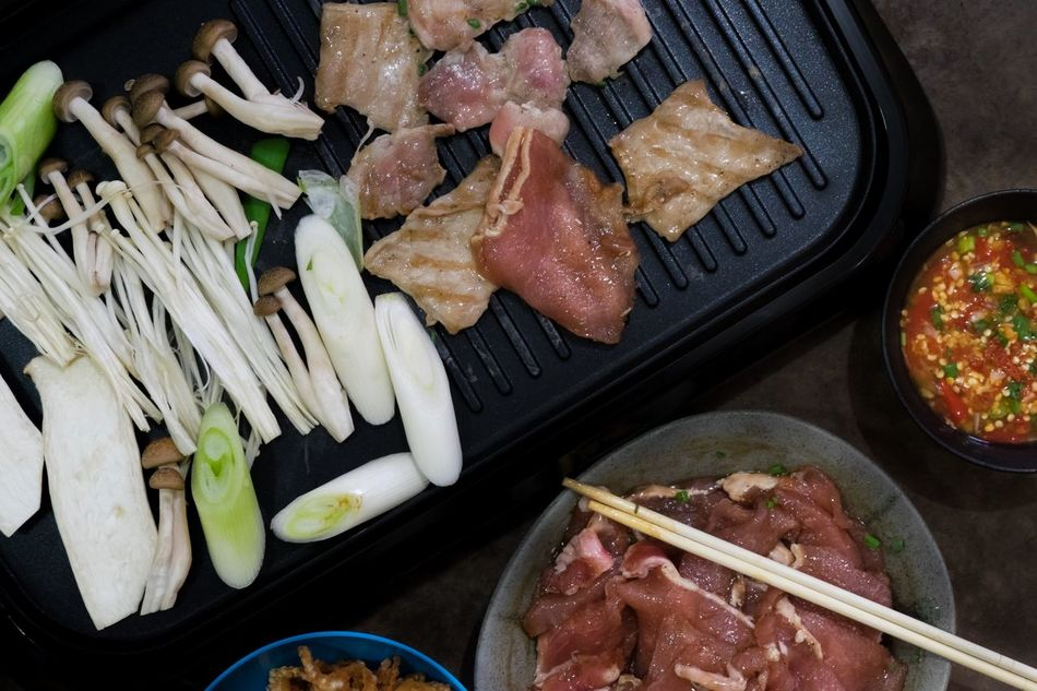 Day Edible Mushroom Food Food And Drink Freshness Fried Griddle Griddle Pan Gril Healthy Eating Home Cooking Indoors  No People Nogi Plate Raw Food Sliced