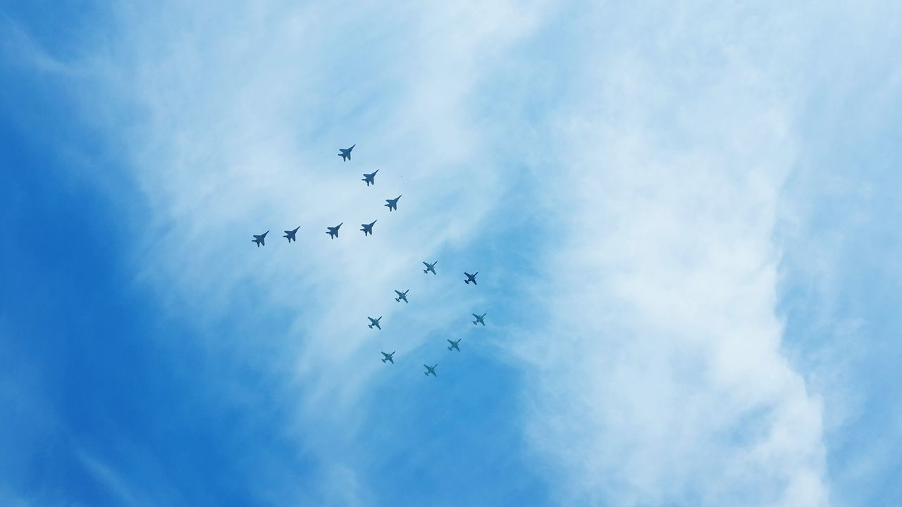 My Country In A Photo 70th Anniversary of the GreatVictory Parade Airplanes Airparade TheGreatVictoryDay Russia 9ofmay OpenEdit Color Palette