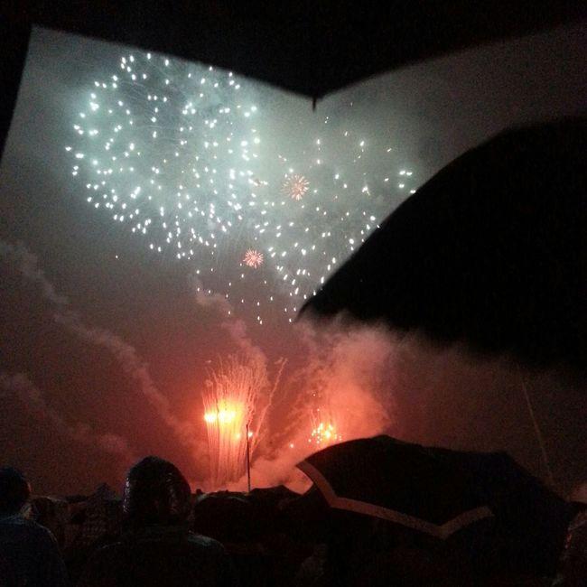 途中で雨が降ってきたけど傘さして鑑賞してきた♪ 最後は煙で何が何だか解らなかったけど、凄さだけは伝わった(笑)
