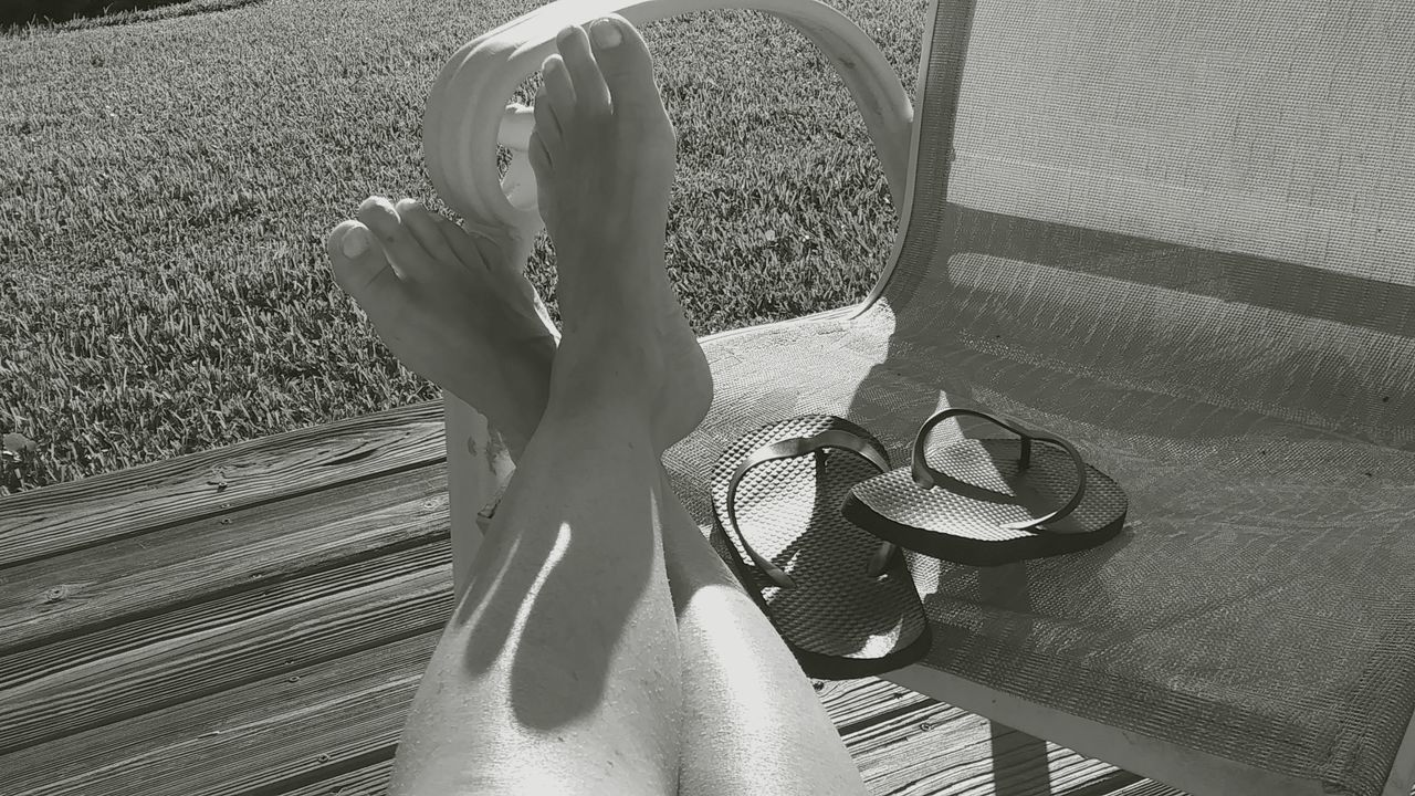 The Purist (no Edit, No Filter) Black & White Photography Reflection Photography Florida Florida Life Flipflops Human Leg One Person Close-up SunriseSilhouette Good Morning EyeEm Shadows & Lights My Sneakers Mixed Textures